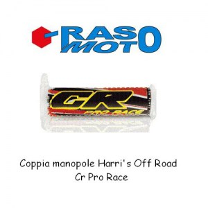 Coppia manopole Harri's Off Road CR PRO RACE in gomma aerospaziale